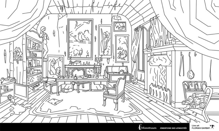 line art interior design