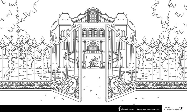line art environment design